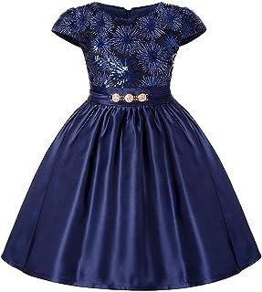 女の子のパーティードレス 女の子のドレスPettiskirt子供のためのハイエンドのドレススカートショルダードレススカートハロウィーンの誕生日がドレスアップ フォーマルなパーティーの誕生日の卒業プロムのダンスのボールのドレスドレス (サイズ : 5T)