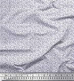 Soimoi Viola popeline di cotone tessuto ambulanza, medico attrezzature e cuore camiceria tessuto stampato...