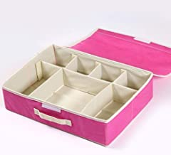 Drawer Organisers Collapsible Closet Dividers Non-Woven Fabric Underwear Storage Boxes with Protected Lid for Socks Scarve...