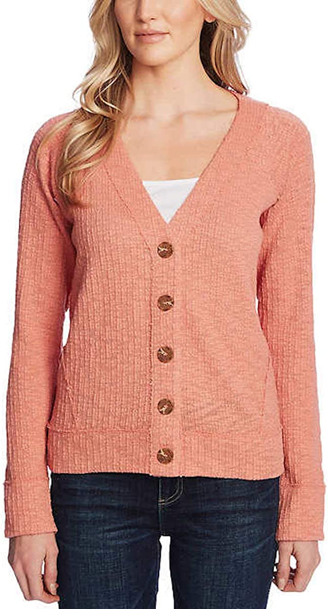 Two by Vince Camuto Women's Long Sleeve Button Up Cardigan