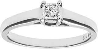 Naava 9 克拉白金 S / S 钻石女式单石戒指