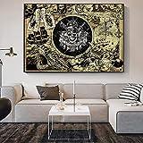 KWzEQ Imprimir en Lienzo Fotos de Piratas Carteles y decoración del hogar para Sala de estar50x75cmPintura sin Marco
