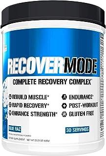 Evlution Nutrition Recover Mode Para el Post-Entrenamiento con BCAA. Creatina. Glutamina. Beta-Alanina. L-Carnitina. Vitaminas y Más (Frambuesa Azul. 30 Porciones)