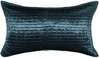SAJAVAT HOME SH_798 Cotton & Velvet Quilted Geometric Stripe Embroidery Pillow Cover (Pack of 1) 21x27 INCHES/ 53x68 cm Tu...
