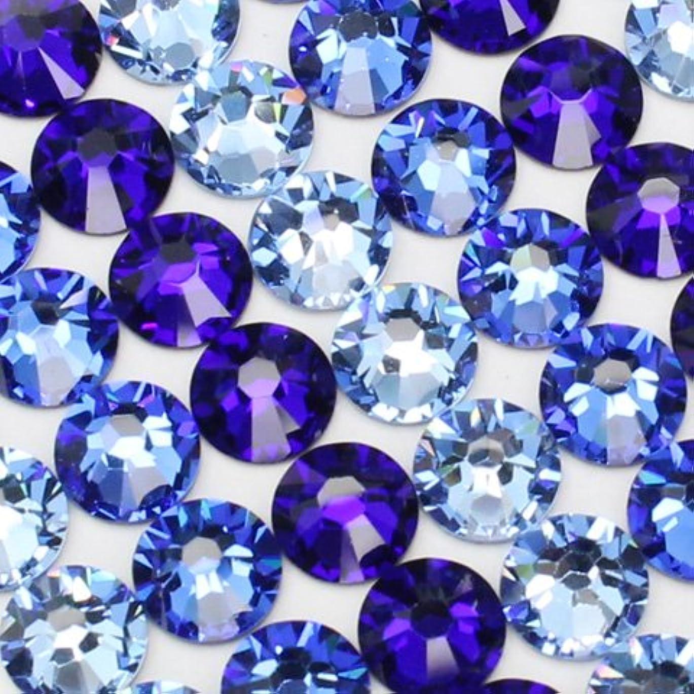 とげ現実的十二お試しアートMIX[ブルー1]コバルト、サファイア、ライトサファイア/スワロフスキー(Swarovski)/ラインストーン ss16(各20粒)