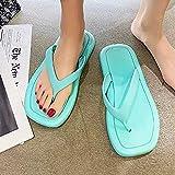 Chanclas clásicas,Cabecera de Verano, Chaqueta de Moda Femenina Zapatos de Playa.-Verde_36-37,Sandalia Casual de Tiras