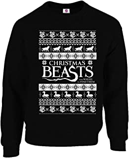 Graphic Impact Funny Fantastic Christmas Beasts Where Find Them Ugly Christmas Sweater Xmas Jumpers