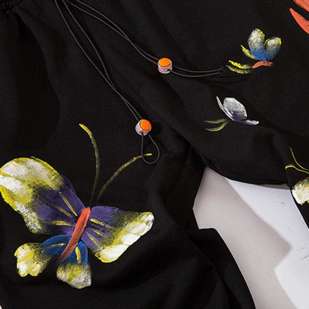 Pantalon de survêtement en Coton imprimé Peint à la Flamme Hommes 2020 Automne Hip Hop Pantalon Mode Harem Joggers Taille élastique Pantalon décontracté Noir