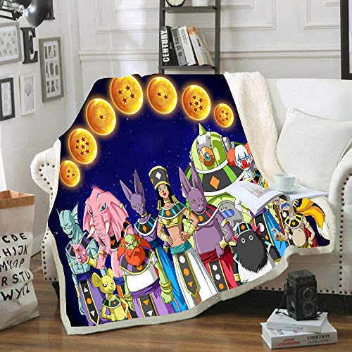 CQLXZ Dragon Ball - Manta de franela (microfibra, 100 x 140 cm)