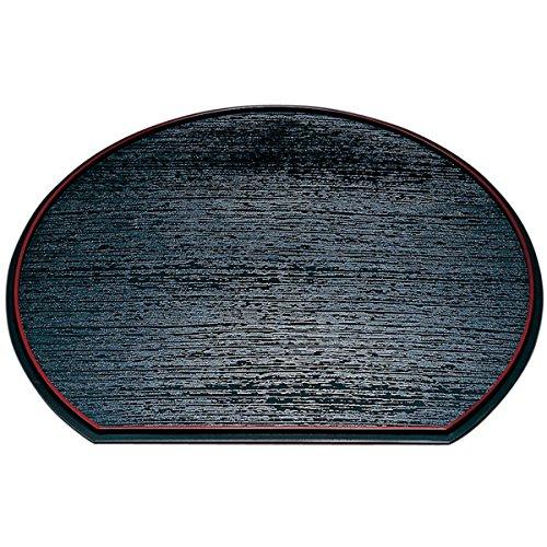 紀州塗り尺3寸半月両面膳39cm(三好漆器オリジナル)
