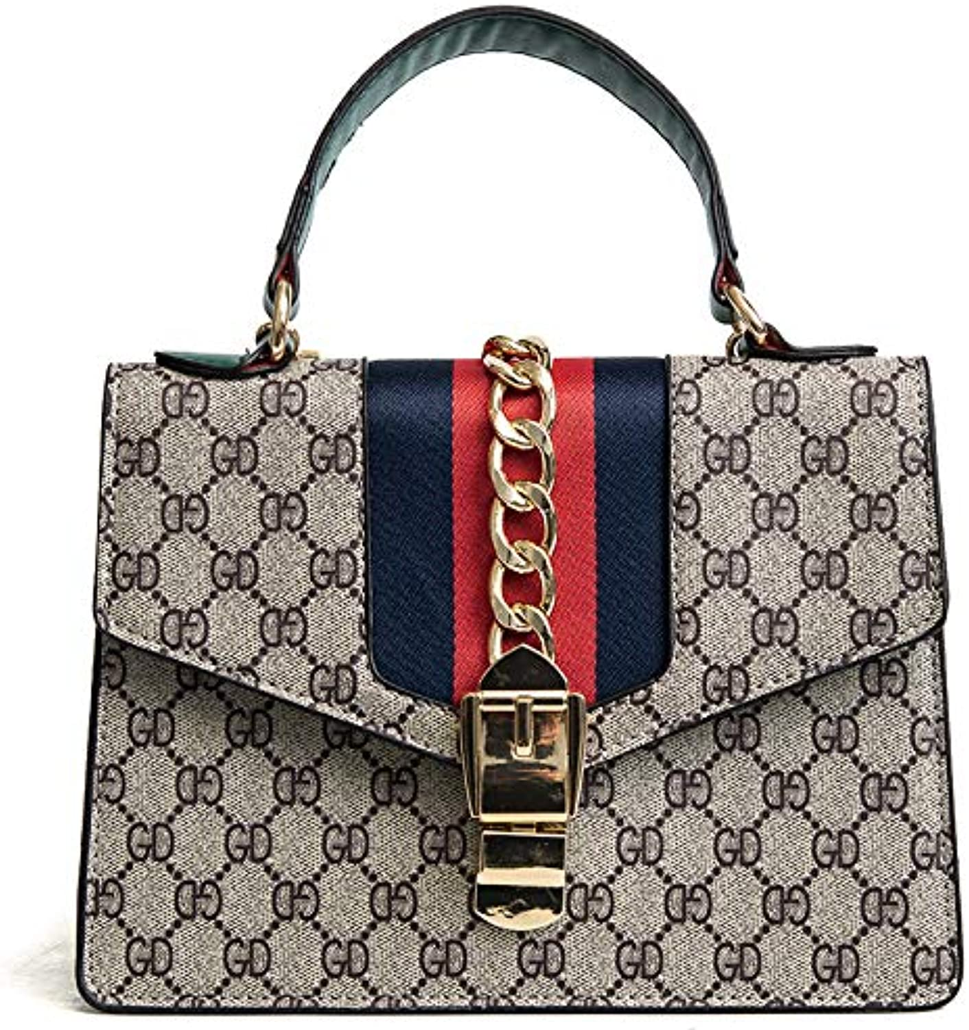 AI BAO Women's Fashion Lock Print Small Party Bag Handbag Chain Messenger Shoulder Bag