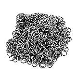 Housweety 100piezas bañado en plata abierto saltar anillos de acero inoxidable–Bisutería Abalorios Manualidades
