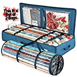 Set of 2pcs Gift Wrapping Paper Storage Box 40' Inches Long & Holiday Accessories Storeage & Waterproof Wraping Storage Bag - Slim Underbed Wrapping Paper Storage Container