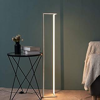 KOSILUM - Lampadaire angle design LED coin - Tivoli - Lumière Blanc Chaud Eclairage Salon Chambre Cuisine Couloir - 24W - ...