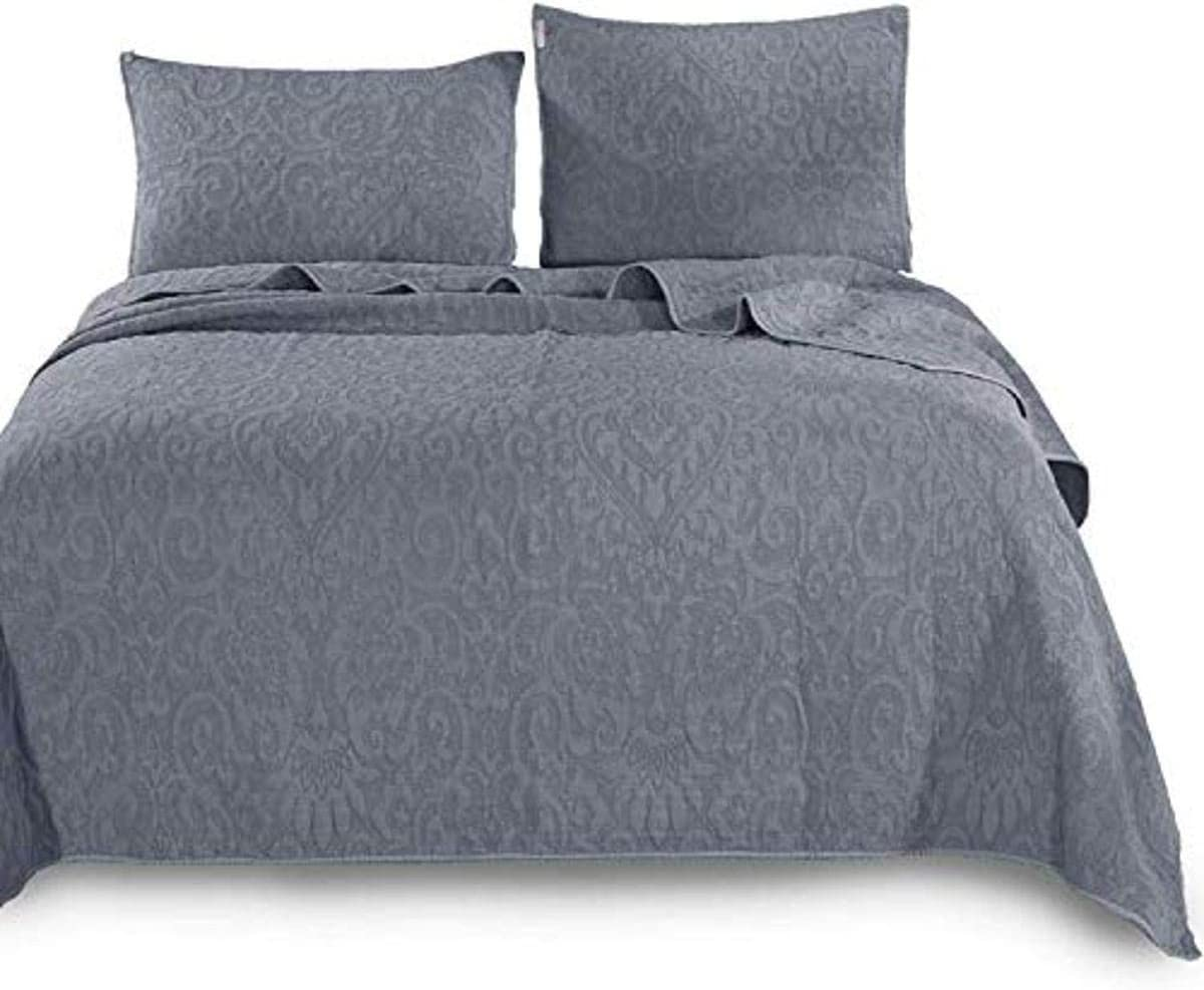 KASENTEX Ultra Soft Stone-Washed Portland Mall Topics on TV Quilt Cotton Set 100% Contempor