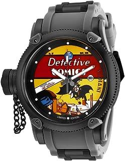 Men's DC Comics Quartz Watch with Stainless Steel Strap, Black, 26 (Model: 29349)
