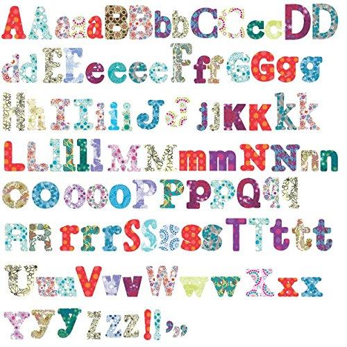 RoomMates - Pegatinas reutilizables para habitación infantil, diseño de letras del abecedario