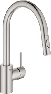 GROHE 32665DC3 Concetto Dual Spray Pull-Down Kitchen Faucet, SuperSteel InfinityFinish