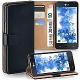 MoEx Premium Book-Hülle Handytasche kompatibel mit LG L90 | Handyhülle mit Kartenfach & Ständer - 360 Grad Schutz Handy Tasche, Schwarz