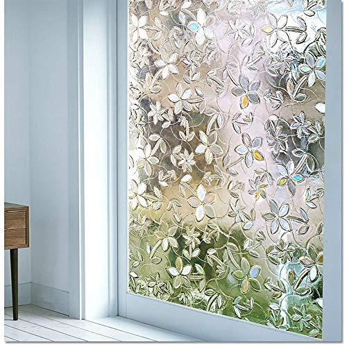 Raamfolie 3D Statische Decoratie Zelfklevende folie voor UV-afwijzing Warmteregeling Energiebesparend Privacy Glasstickers, 75x100cm