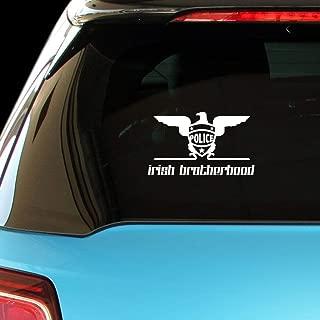 PressFans - Irish Brotherhood Police Cop Car Laptop Wall Sticker