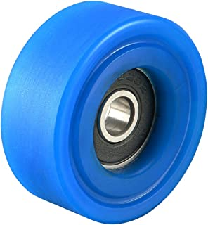 uxcell 6x35x14mm Roller Idler Bearing Pulley Sliding Conveyor Wheel Blue