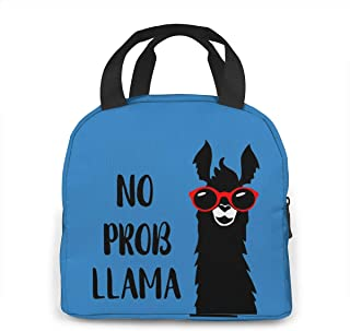 No Prob Llama Lunchbox Carry Case Container For Women/Men Kids, Work, School, Picnic, Beach Lunch Bento Bag Easy To Clean