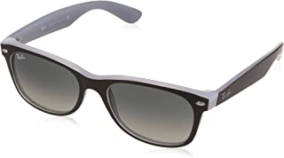 RAY-BAN RB2132 New Wayfarer Sunglasses, Matte Black On Opal Ice/Grey Gradient, 55 mm