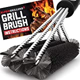 Alpha Grillers Grill Brush. Rust Proof Bbq Cleaning Scraper Accessories. Safe Stainless Steel Wire...
