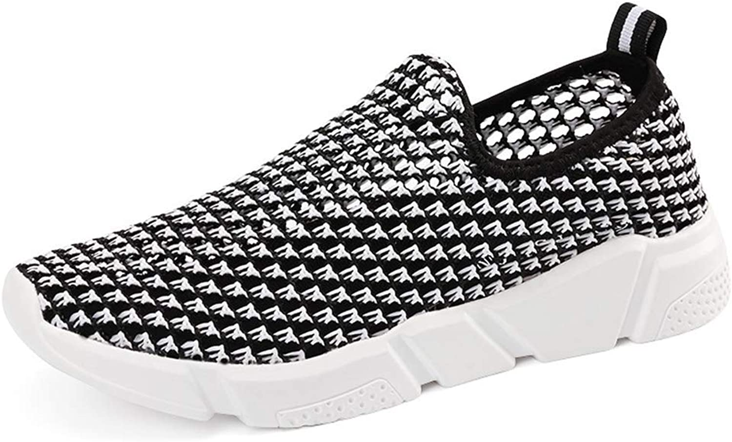 Fashion shoesbox Women Slip-On Sneakers Comfort Breathable Mesh Slip On Wedges shoes Moccasin Loafers Walking shoes for Women