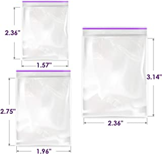 300 PCS Small Ziplock Bags for Jewerly - 2 Mil Clear Reclosable Poly Zipper Bags Sizes 1.5