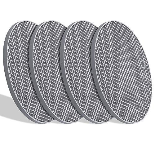 YOLIFE 硅胶锅垫防烫垫 灰色 4片