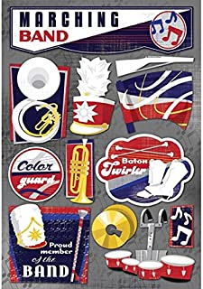 KAREN FOSTER 11581 Design Acid and Lignin Free Scrapbooking Sticker Sheet, The Marching Band