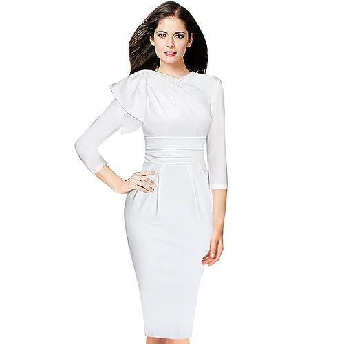1bc38b7cac124 Womens White Dresses for Church: Amazon.com