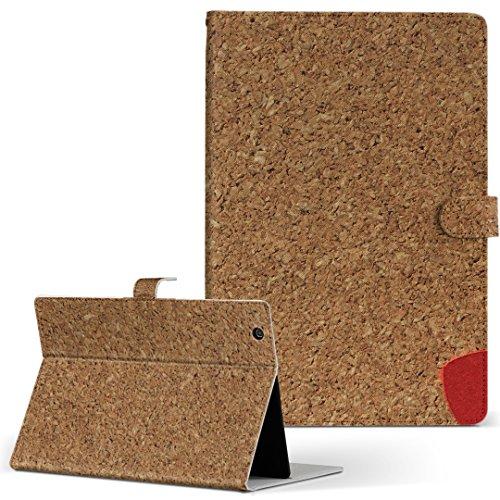 igcase BLUEDOT ブルードット BNT-791W タブレット 手帳型 タブレットケース タブレットカバー カバー レザー ケース 手帳タイプ フリップ ダイアリー 二つ折り 直接貼りつけタイプ 006353 ラブリー ハート コルクボード 文字