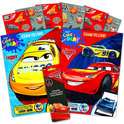 Disney Cars Coloring Book Set (2 Books Featuring Lightning McQueen - 96 Pages, Int. Ed.)