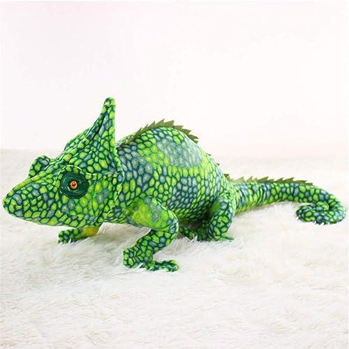 Dongart Ornamente Plüschtier Simulation Eidechse Cham on Form Plüschtiere Kissen Spielzeug Dekoration Geschenk (Grün 75cm)