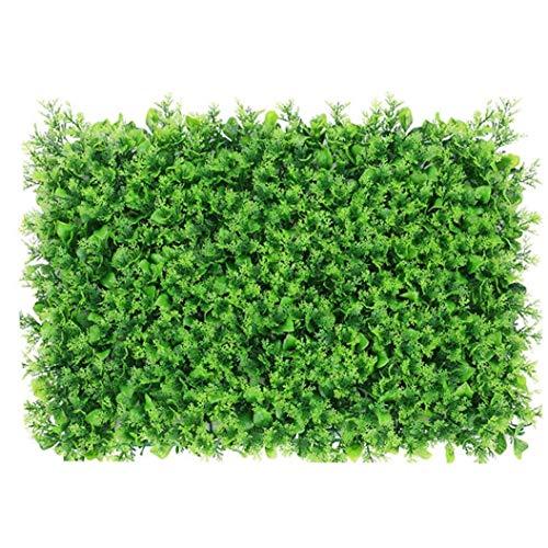 MICHAELA BLAKE Panel de Cobertura Falsa Artificial Planta Falsa Pared Ivy Valla Césped Artificial Grass Pantalla Telón de Fondo Decorativo para el hogar espárrago Verde jardín Trasero Boda Decoratio