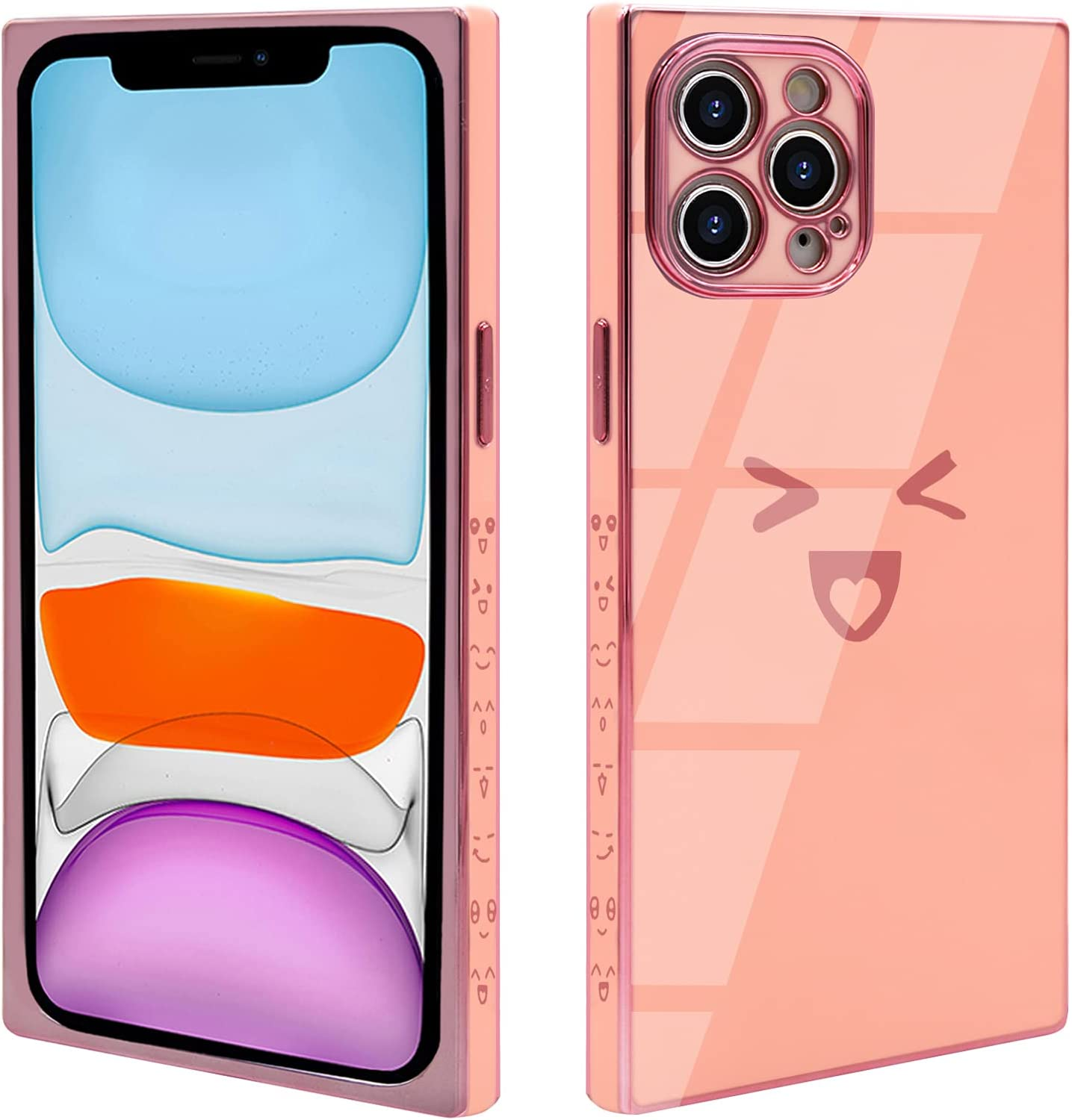 VUIIMEEK Square Case for iPhone 12 Pro Max for Women Girls 6.7