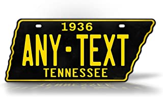 SignsAndTagsOnline 1954-1958 Replica Tennessee License Plate Customized State Shaped TN Antique Personalized Auto Tag