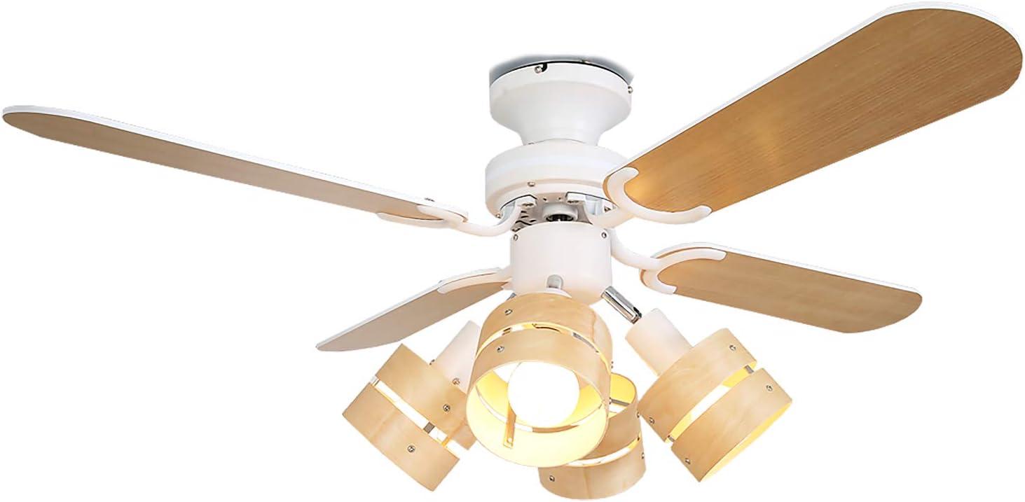 LOWYA 照明 シーリングファンライト LED ナチュラル ホワイト