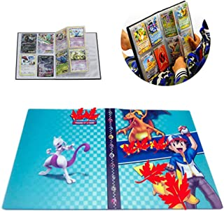 Card Holder Collection Handbook Trading Card Album for Pokemon Holds up to 240 Trading Cards (Blue Ash)