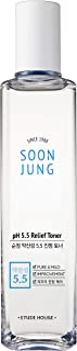 ETUDE HOUSE Soonjung pH5.5 Relief Toner (180ml) | Skin Care Solution | Acne Skin Care Face Wash Toner for Anti Aging Women