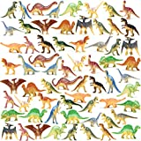 Prextex Box of Mini Dinosaur Toys (72 Count) Best for Dinosaur Party Favors Cake...