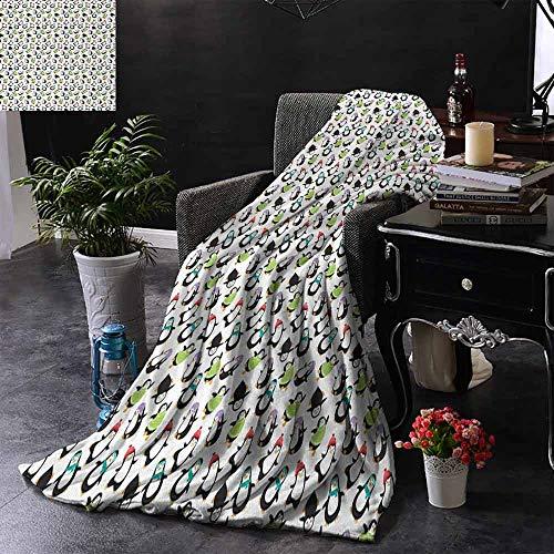 GGACEN bont gooien deken lachen dansen grappige pooldieren met sjaals en hoeden winter gelukkig vakantie winter pluche microvezel stof 50