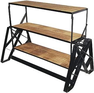 Display Fixture 3-in-1 Industrial Black Iron Convertible Shelf - 44