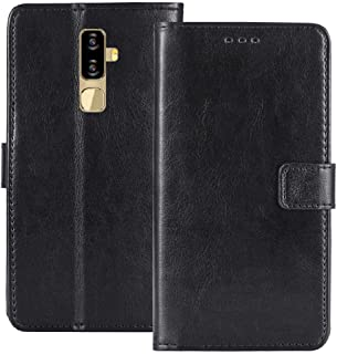 Golden Sheeps Flip Case Compatible with Nuu Mobile G3, G3+ Luxury Design Magnetic Leather Wallet Pouch Cover Case Card Holder with a Viewing Stand (Black)