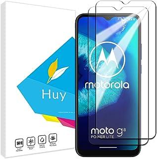 Huy for Moto G8 Power Lite ガラスフイルム MOTO G8 POWER LITE フイルム【2枚セッ】 日本旭硝子製 強化ガラス 液晶 保護フィルム 貼り付け簡単 硬度9H 防指紋 透過率98.5%