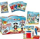 CRAZE Set di perline per bambini, per bricolage Splash Beadys, perline XXL, set di lavoro per bambini Activity Bundle Boys con accessori 27714, Fuse Beads