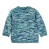 Sterntaler Unisex Kinder Strick-pullover Strickpullover mit elastischem H ftbund und elastischen B ndchen, Marine, 68 EU